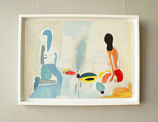Jacek Cyganek : Holiday hopes : Tempera on canvas