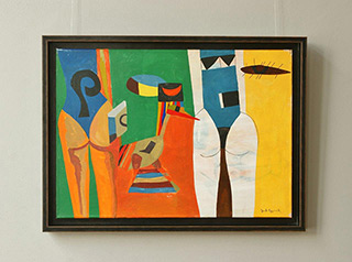 Jacek Cyganek : Holiday views : Tempera on canvas