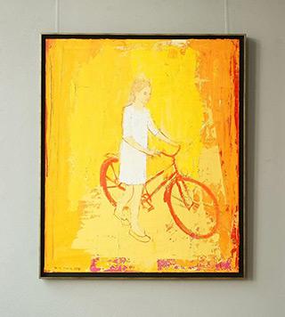Jacek Łydżba : Biker : Oil on Canvas