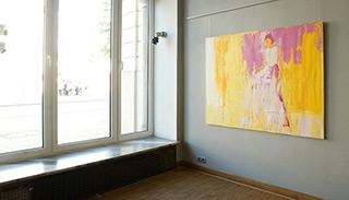 Jacek Łydżba : Lady in white : Oil on Canvas