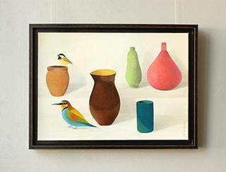 Katarzyna Castellini : Still life with bee-eaters : Oil on Canvas