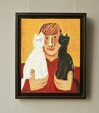 Krzysztof Kokoryn : Black or white : Oil on Canvas