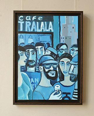 Krzysztof Kokoryn : Cafe Tralala : Oil on Canvas