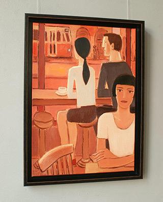 Krzysztof Kokoryn : In the cafe : Oil on Canvas