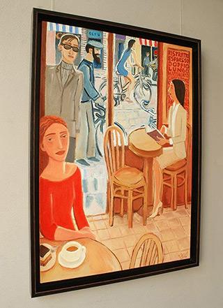 Krzysztof Kokoryn : Late meeting : Oil on Canvas