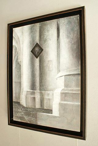 Łukasz Huculak : Saenredam I : Tempera on wood panel