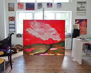 Beata Murawska : White cloud over the mountains : Oil on Canvas
