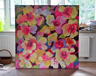Beata Murawska : Wild roses : Oil on Canvas
