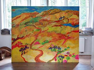 Beata Murawska : Yellow hills : Oil on Canvas
