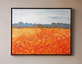 Edward Dwurnik : Marigold field : Oil on Canvas