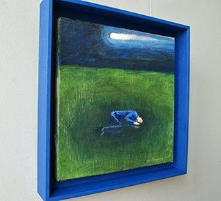 Katarzyna Karpowicz : Comet over a sleeping boy : Oil on Canvas