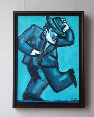 Krzysztof Kokoryn : Tom Waits dancing : Oil on Canvas