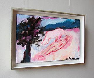 Beata Murawska : Girl with a polar bear : Oil on Canvas