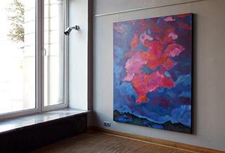 Beata Murawska : Pink cloud : Oil on Canvas
