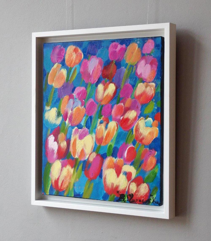 Beata Murawska : Tulips with blue