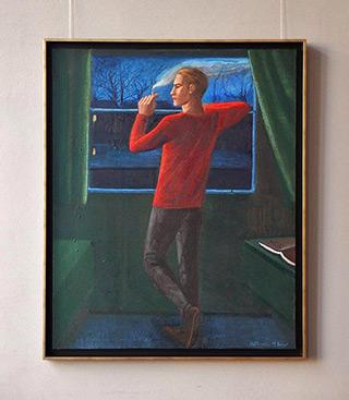 Katarzyna Karpowicz : Man in red shirt : Oil on Canvas