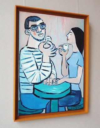 Krzysztof Kokoryn : Couple at espresso : Oil on Canvas