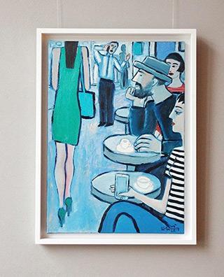 Krzysztof Kokoryn : Girl in a green dress : Oil on Canvas