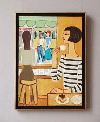 Krzysztof Kokoryn : View from cafe : Oil on Canvas