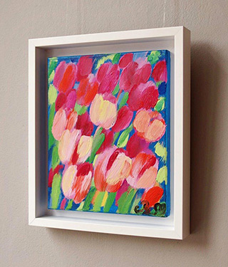 Beata Murawska : Little tulips field : Oil on Canvas