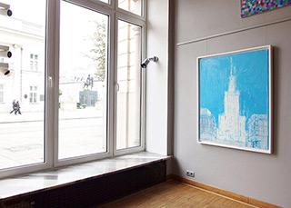 Jacek Łydżba : White palace : Oil on Canvas