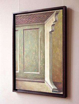 Łukasz Huculak : Architectural detail : Tempera on canvas