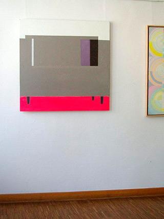 Radek Zielonka : Pink gray : Oil on Canvas
