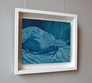 Agnieszka Sandomierz : In bed sheets : Tempera on canvas