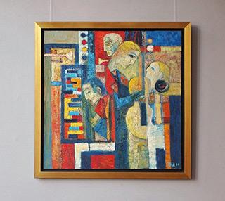 Darek Pala : Musical company : Oil on Canvas