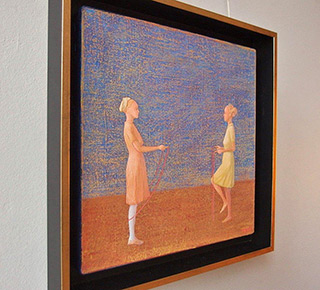 Mikołaj Kasprzyk : Skipping ropes : Oil on Canvas