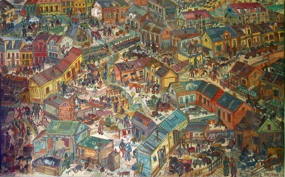 Edward Dwurnik : Little town 1967