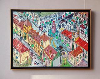 Edward Dwurnik : Royal Castle on the Miêdzyborska Street : Oil on Canvas