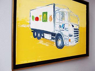 Jacek Łydżba : Truck : Oil on Canvas