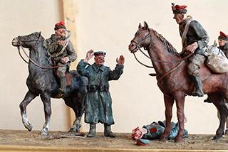 Leszek Jasiński : Insurgent Patrol : Ceramic, wood