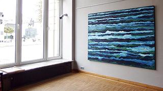 Edward Dwurnik : Blue No 102 : Oil on Canvas