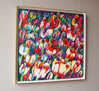 Beata Murawska : Splendor of tulips : Oil on Canvas