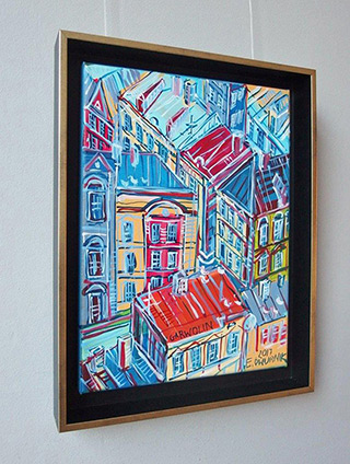 Edward Dwurnik : Garwolin : Oil on Canvas