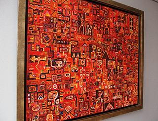 Krzysztof Pająk : Time guard : Oil on Canvas