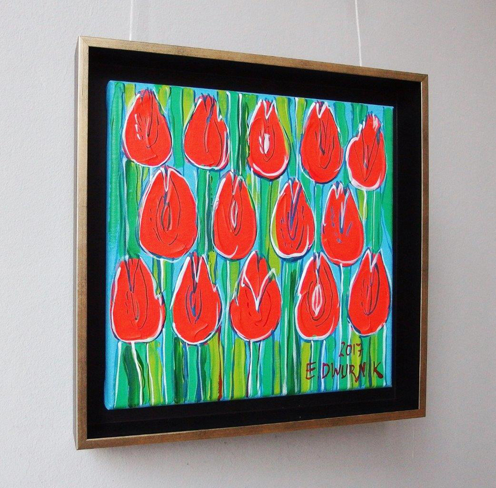 Edward Dwurnik : Orange tulips