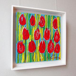 Edward Dwurnik : Spring tulips : Oil on Canvas