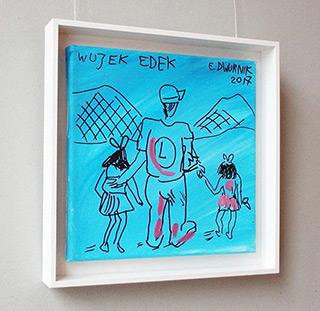 Edward Dwurnik : Uncle Edek : Oil on Canvas
