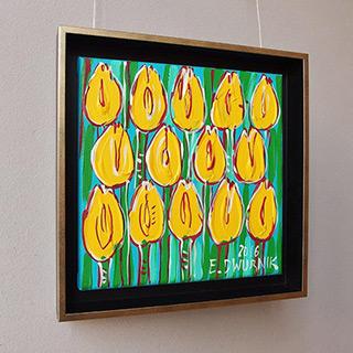 Edward Dwurnik - Yellow tulips