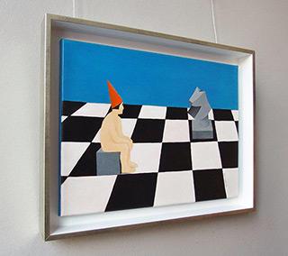 Katarzyna Castellini : On the chessboard : Oil on Canvas