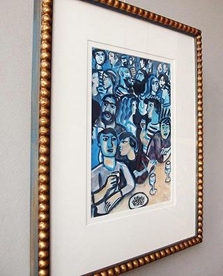 Krzysztof Kokoryn : Blue clubbing small : Tempera on paper