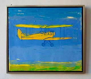 Jacek Łydżba : Old plane : Oil on Canvas