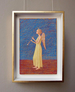 Mikołaj Kasprzyk : Angel with clarinet : Oil on Canvas