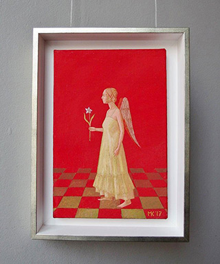 Mikołaj Kasprzyk : Angel with lilly : Oil on Canvas