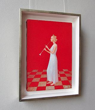 Mikołaj Kasprzyk : Lady with clarinet : Oil on Canvas