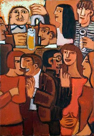 Krzysztof Kokoryn : Bar : Oil on Canvas