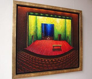 Adam Patrzyk : Red stage : Oil on Canvas